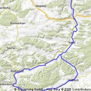 Jena-Kahla-Rudolstadt-Saalfeld CLONED FROM ROUTE 462874