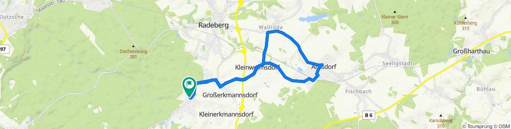 Tanzzipfelweg 3, Radeberg nach Tanzzipfelweg 3, Radeberg