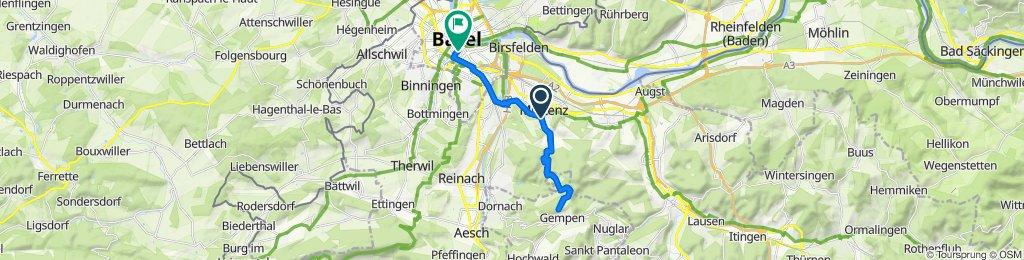 Oberdorf 9, Muttenz to Steinentorstrasse 7, Basel