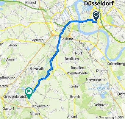 Sportliche Route in Grevenbroich