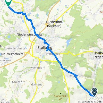 Gemütliche Route in Lugau/Erzgebirge