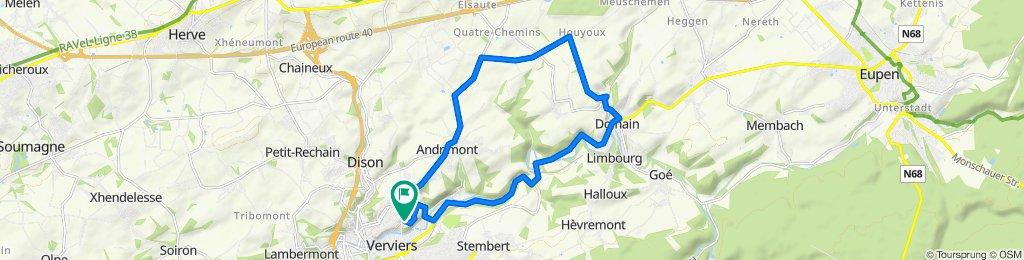 Itinéraire sportif en Dison