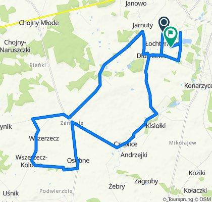 Spokojna trasa w Łochtynowo
