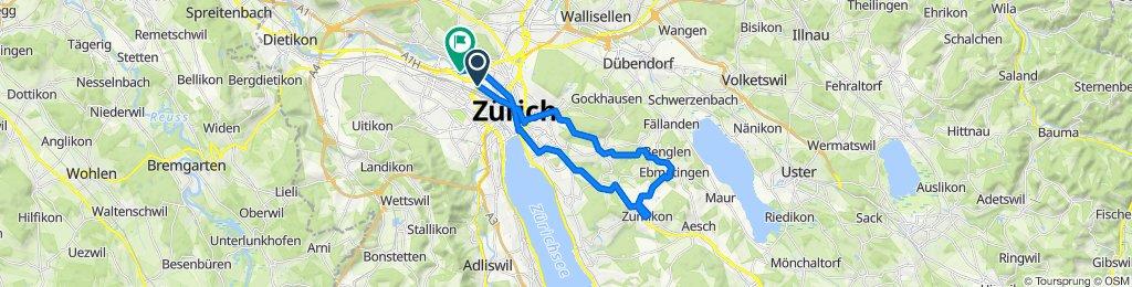 Hardstrasse 234, Zürich to Hardturmstrasse 263, Zürich