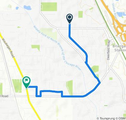 1650 Sunnyside Ave, Highland Park to 850 Waukegan Rd, Deerfield