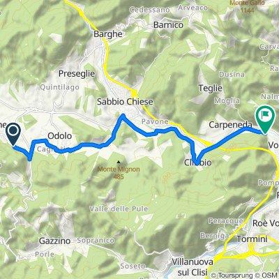 Da Via Guglielmo Marconi 173, Agnosine a Via della Ferriera 1, Vobarno