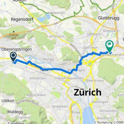Wagistrasse 25, Schlieren to Luegislandstrasse 45, Zürich