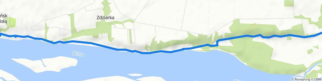 Powolna trasa w Czerwińsk nad Wisłą