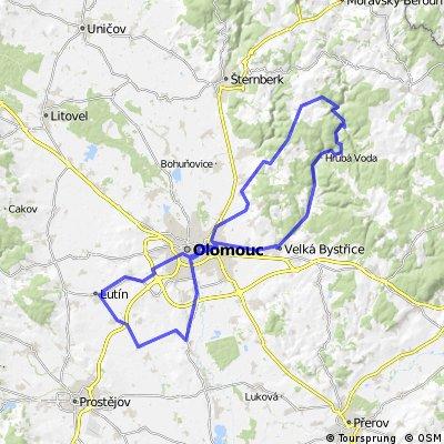 Lutin - Olomouc - Hlubocky - Smilov - Jivova - Dolany - Olomouc - Charvaty - Dubany - Lutin