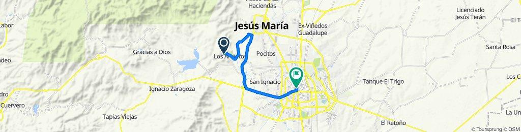 Paseo rápido en Aguascalientes