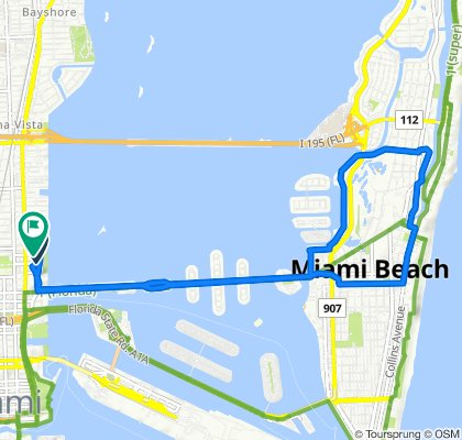 Moderate route in Miami