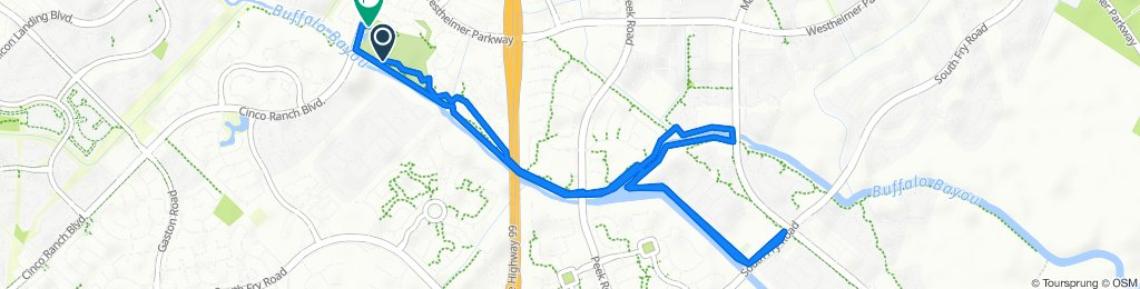 Route to 24049–24085 Hamptonshire Ln, Katy
