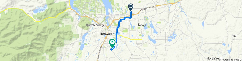 Ride from Lacey to Durell Rd  w/ Wife