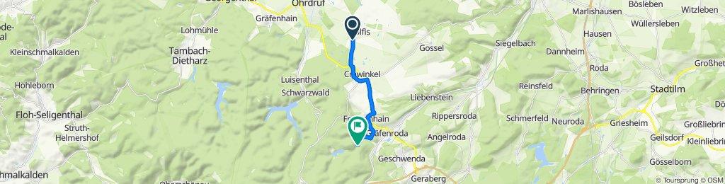 L2148 15, Wölfis nach Unnamed Road, Gräfenroda