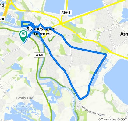 Steady ride in Staines-upon-Thames