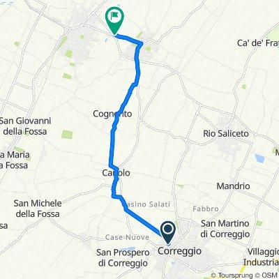 Da Via Sante Mussini 18, Correggio a Via Camillo Prampolini, Campagnola Emilia