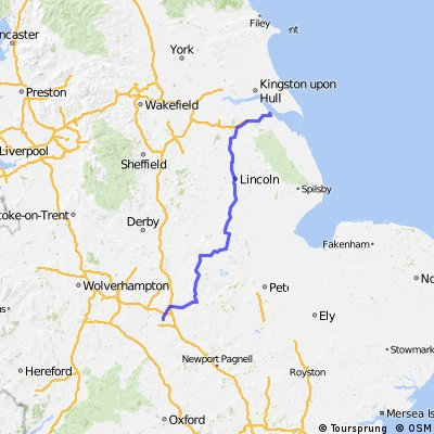 Escape route - immingham to rugby