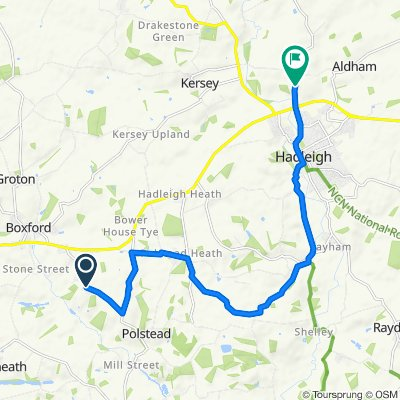 Colchester to Aldham Mill Hill