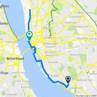 Moderate route in Liverpool