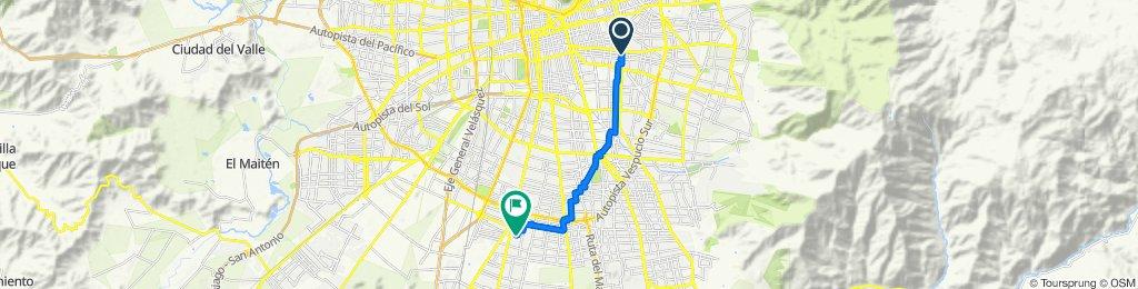 De Avenida José Pedro Alessandri 155, Ñuñoa a Juan Solar Parra 636, El Bosque