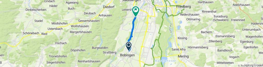 Langsame Fahrt in Augsburg