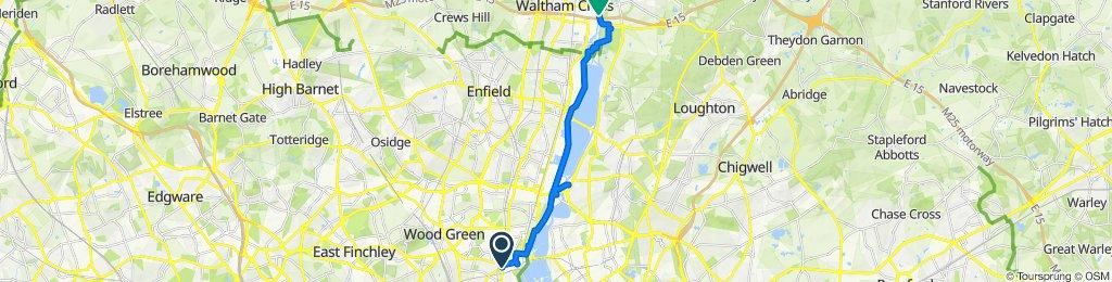 Restful route in Waltham Abbey