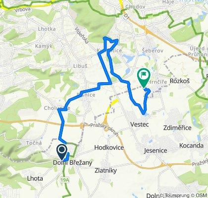 Relaxed route in Dolní Břežany