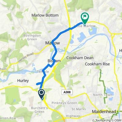 Temple Lodge, Henley Road, Maidenhead to Garden Cottage, School Lane, Marlow