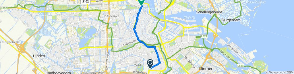 Makkelijke rit in Amsterdam