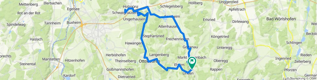 Engetried-Schwaighausen-Ottobeuren u. zurück