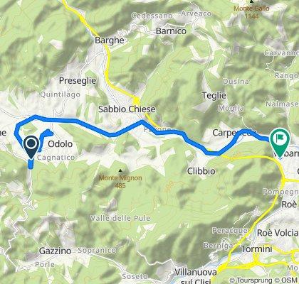 Da Via Brescia 86, Odolo a Via Casello 6F, Vobarno