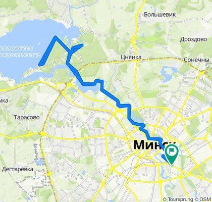 От Партизанский проспект 9, Минск до Партизанский проспект 9, Минск