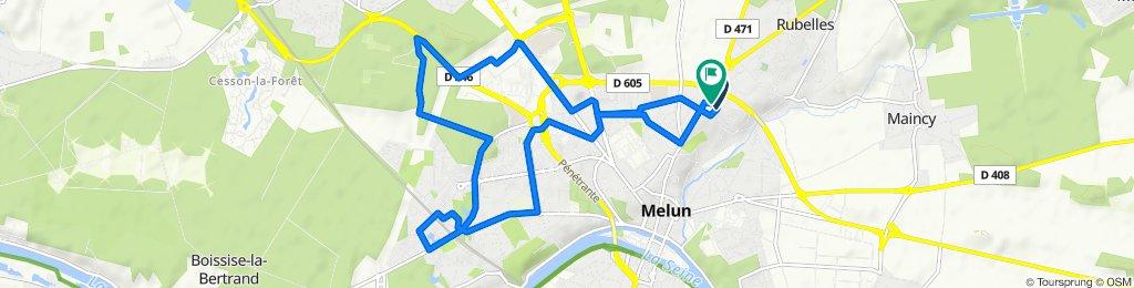 Itinéraire confortable en Melun