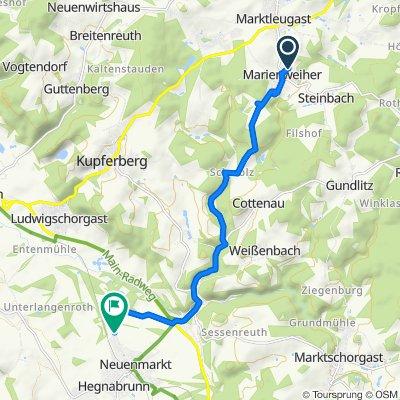 Langsame Fahrt in Neuenmarkt