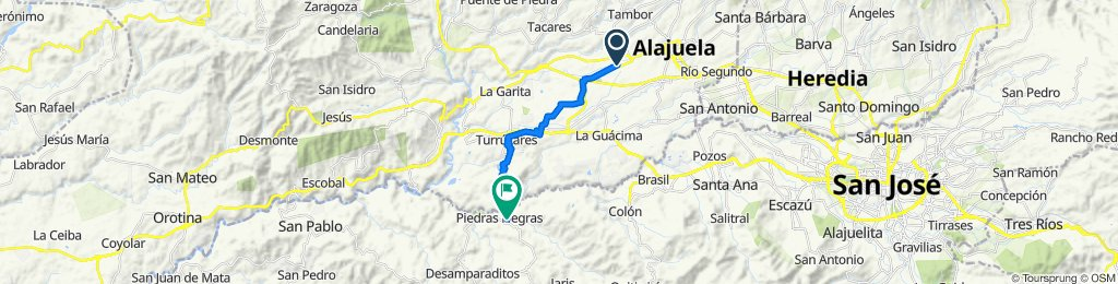 Carretera del Coyol, Alajuela to 136