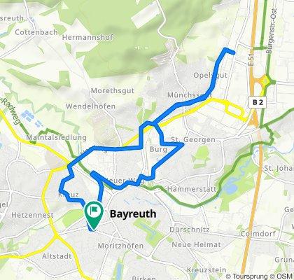 Rathenaustraße 46, Bayreuth to Rathenaustraße 48, Bayreuth