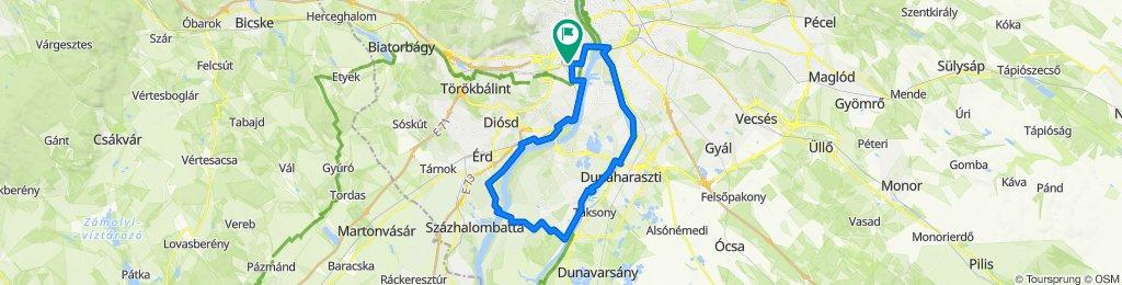 Déli kör: Bp.-Érd-Tököl-Szigetszmiklós-Soroksár