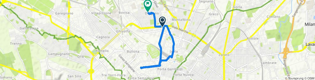 Giro semplice in Milano