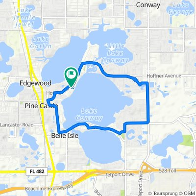 Restful route in Belle Isle