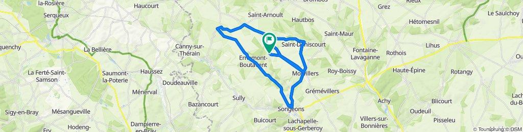 Itinéraire sportif en Loueuse