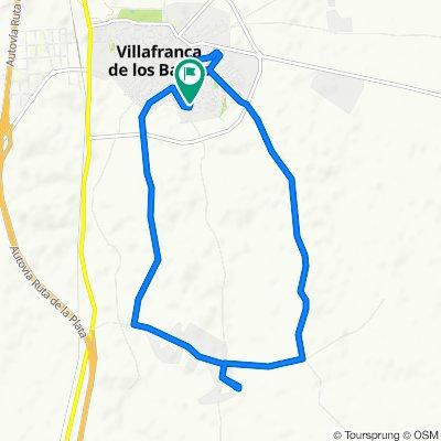 De Calle Ruiz Zorrilla 21, Villafranca de los Barros a Calle Ruiz Zorrilla 21, Villafranca de los Barros