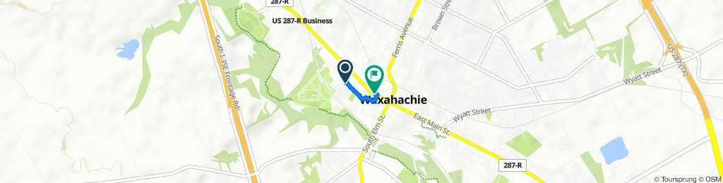 Moderate route in Waxahachie
