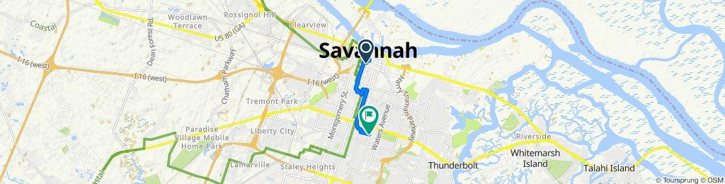 Restful route in Savannah