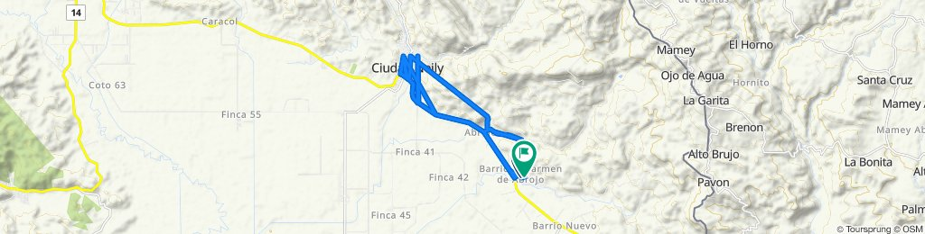Ruta desde San Antonio, Coloradito