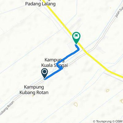 Jalan Kubang Rotan, Alor Setar to Jalan Tunku Abdul Rahman 49b, Alor Setar