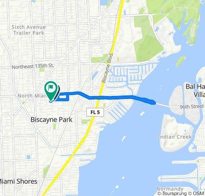 Slow ride in North Miami