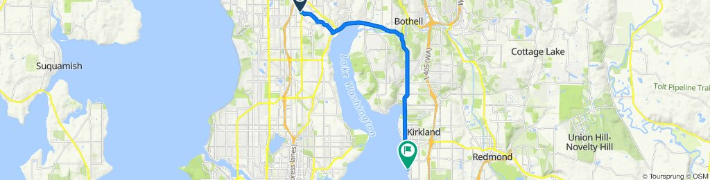 1503 NE Perkins Way, Shoreline to 6001–6079 Lake Washington Blvd NE, Kirkland