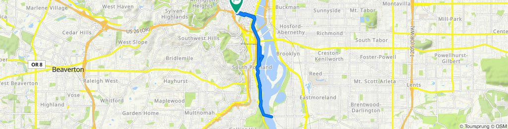 Southwest 11th to Southwaterfront and back, Portland