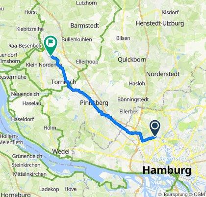 Hamburg Groß Borstel nach Plinkstraße Elmshorn