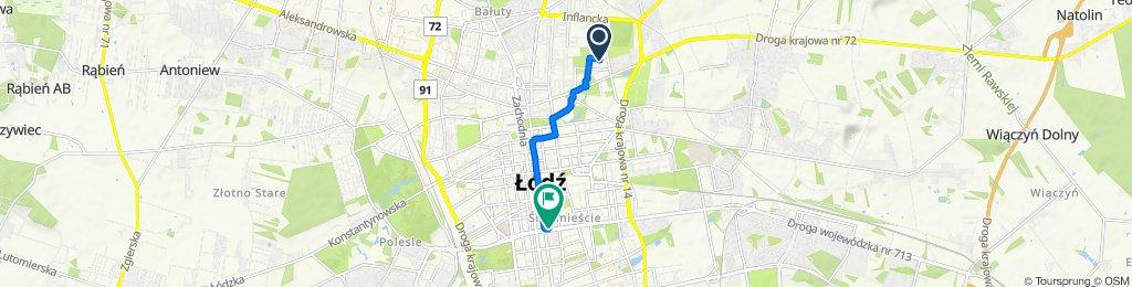 Spokojna trasa do Łódź